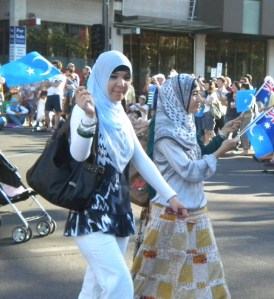 Muslim women, Australia Day Parade, 2010